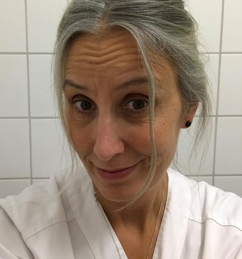 Sjuksköterskan Anna-Clara Axelsson är skyddsombud på infektionsavdelning 2 Sus.