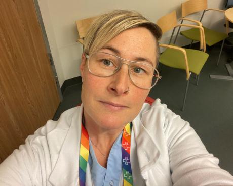 Karin Järback, barnmorska på specialistmödravården och förlossningen vid Norrlands universitetssjukhus, Umeå
