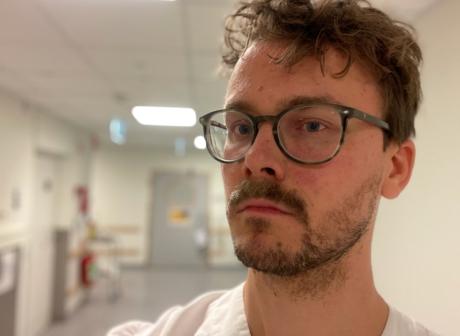 Jakob Engström, sjuksköterska på mava i Lund.