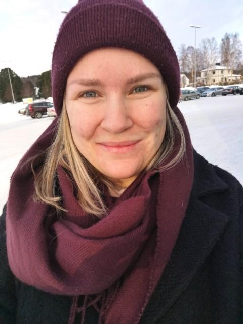 Porträtt på barnmorskan Martina Petterson