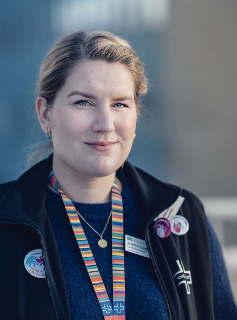 Josefine Lundqvist, skyddsombud och förtroendevald för Vårdförbundet.