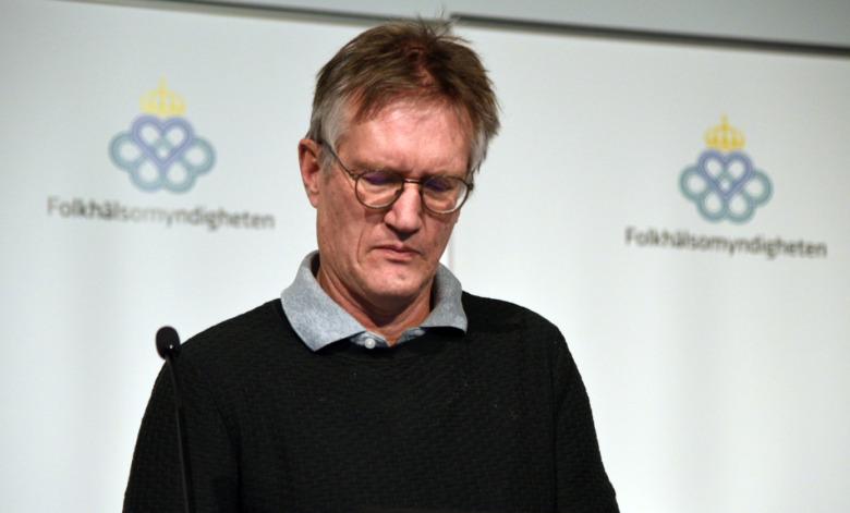 Anders Tegnell på Folkhälsomyndighetens presskonferens