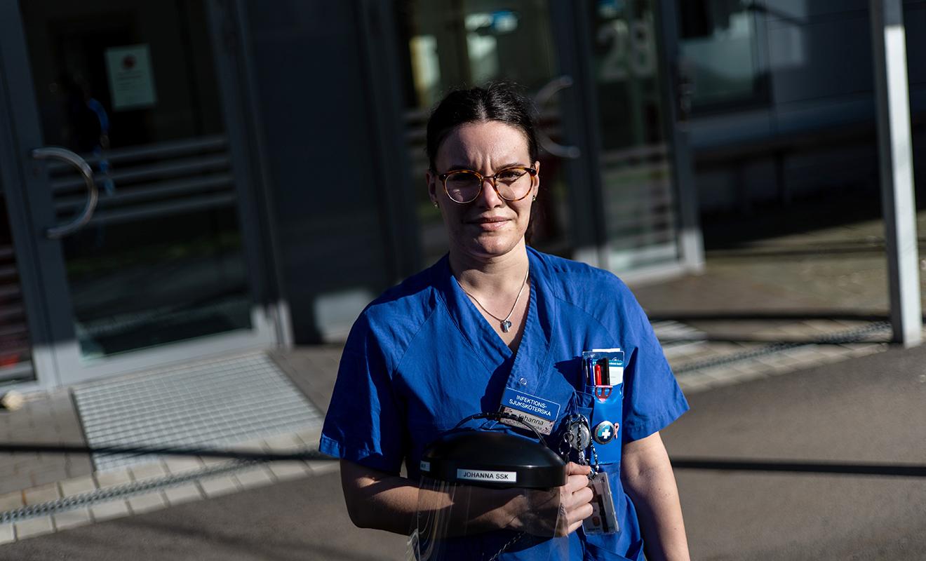 Johanna fick vårda sin svårt sjuka kollega