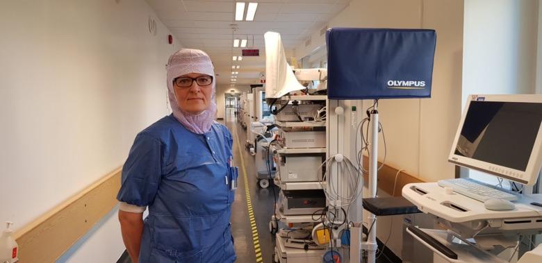 Lena Thoudal, operationssjuksköterska på Akademiska sjukhuset i Uppsala.