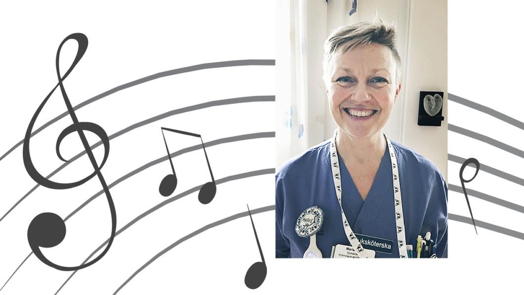 Sjuksköterskan Marie sjöng sig igenom covid