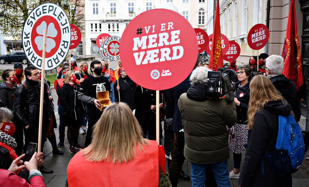 Danska sjuksköterskor redo att gå ut i strejk