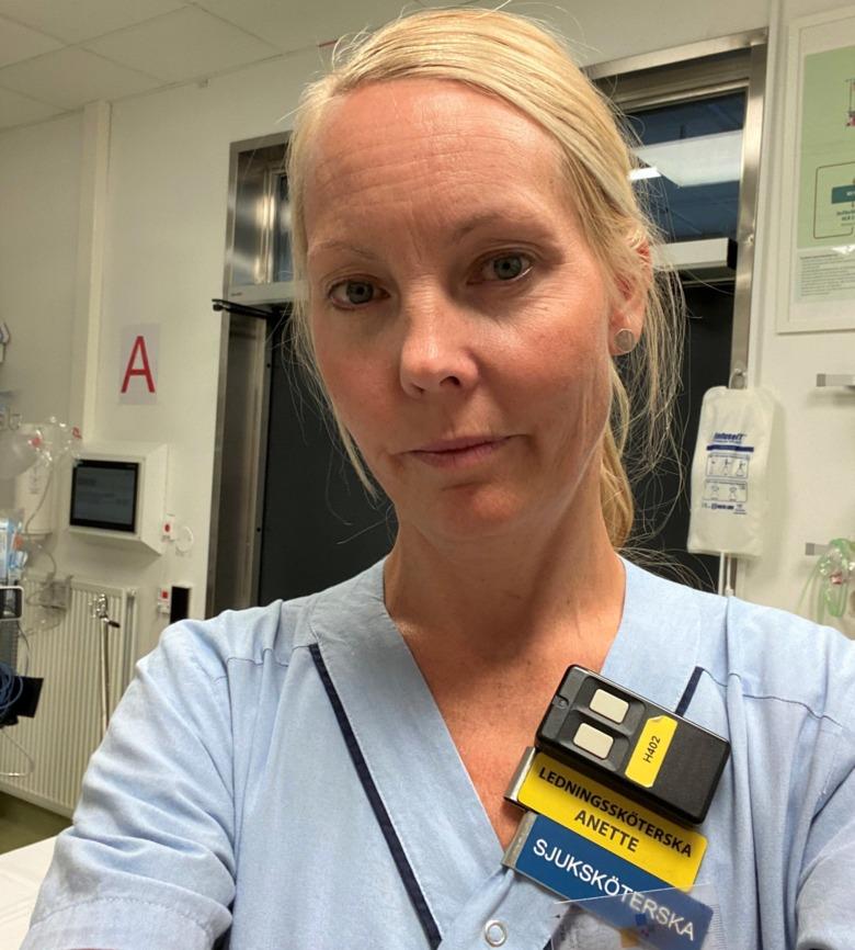 Annette Östlund, specialistsjuksköterska på USÖ