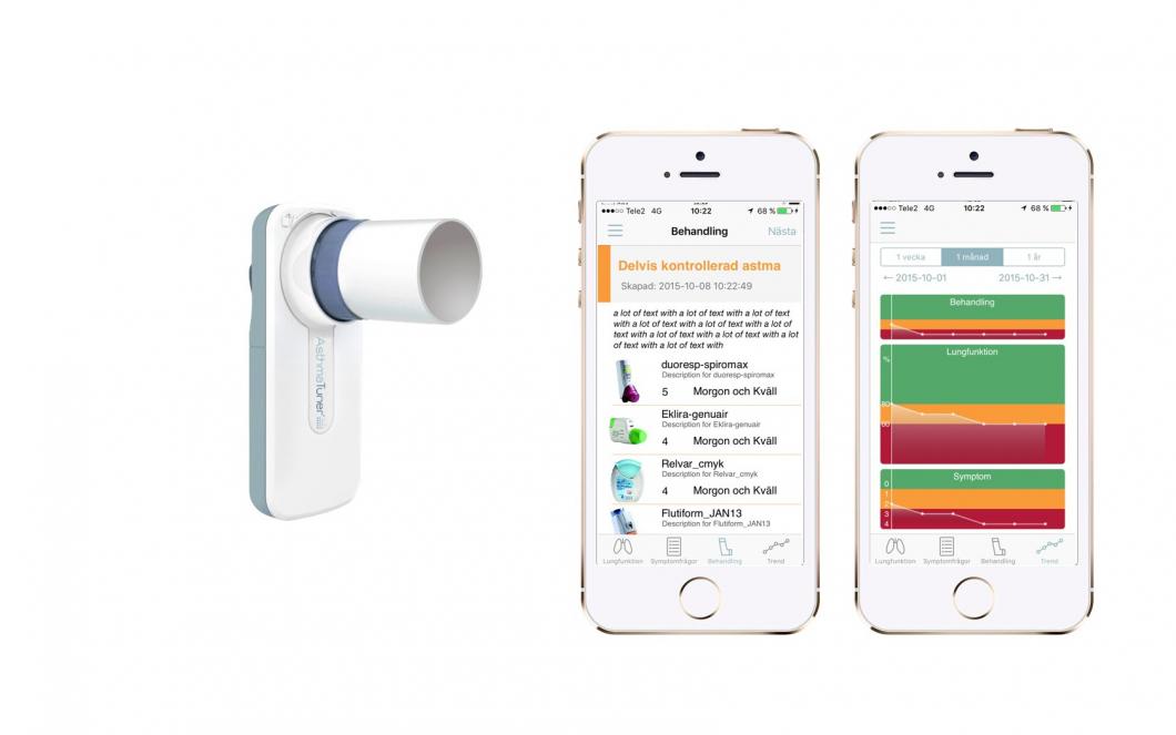 Patienter håller koll på sin astma i mobilen