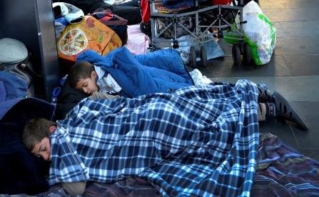 Flyktingsituationen. Låg risk för smittspridning