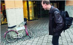 Kampanj. Fullt upp med cyklarsom inte används fullt ut
