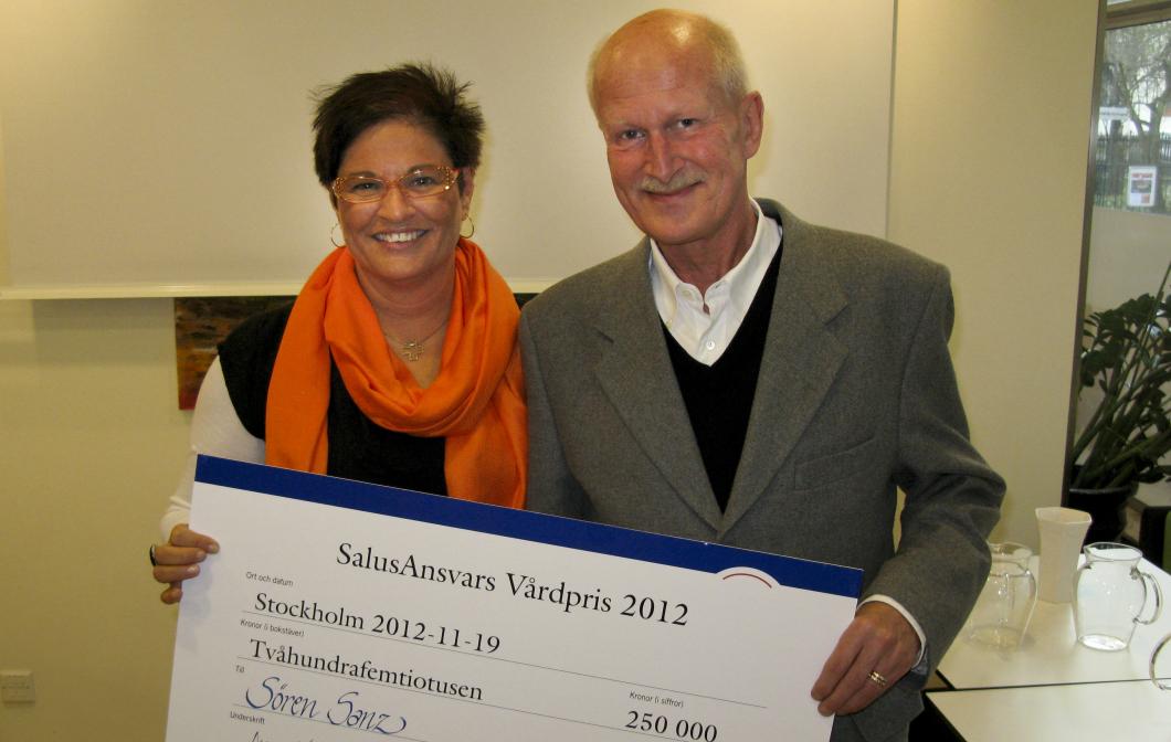Sören Sanz får årets stora vårdpris