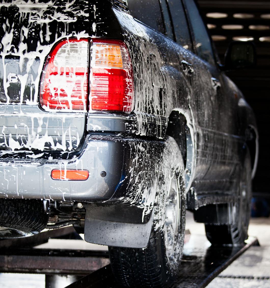Arbetstid går åt till biltvätt