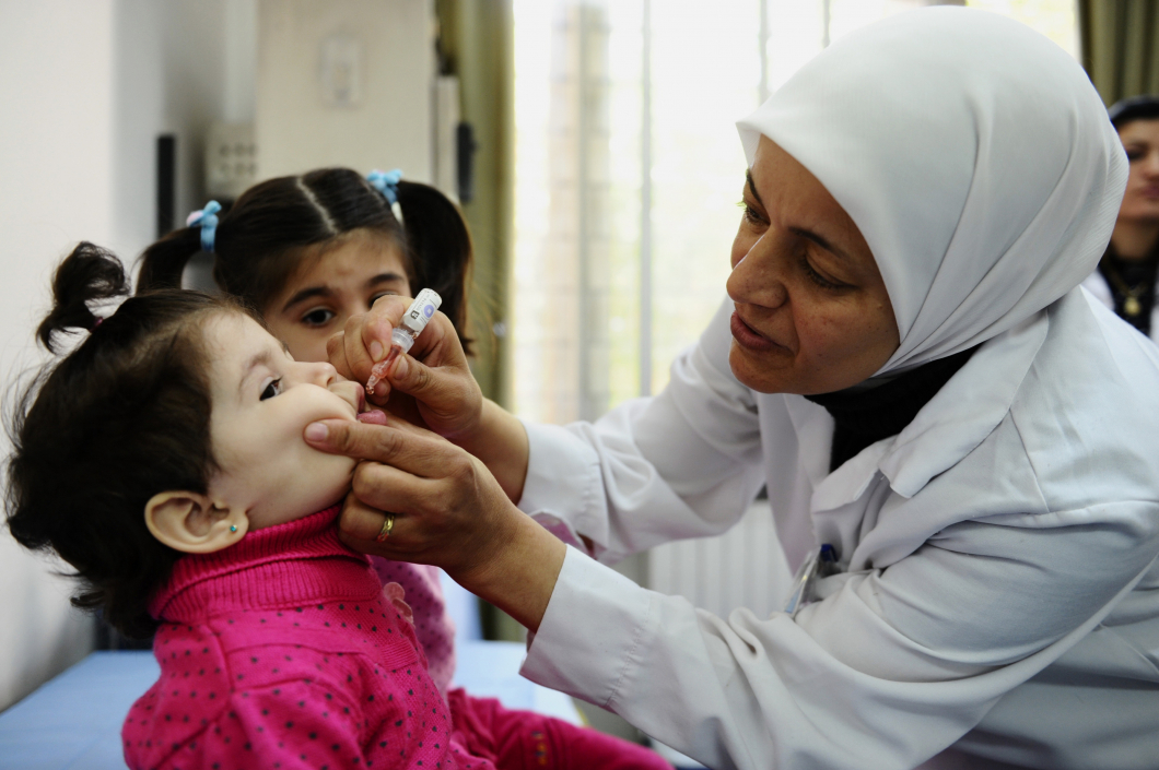 Massvaccination mot polio