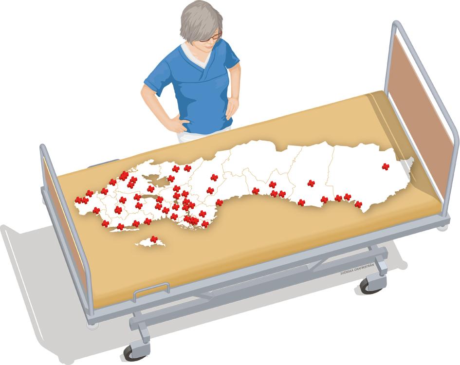 Sjukhusen i akut behov av vård
