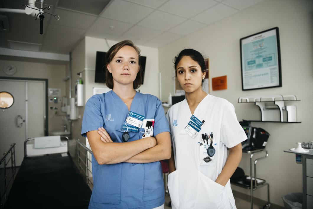 Akutsjuksköterskor på Danderyd larmar om vård som i en krigszon