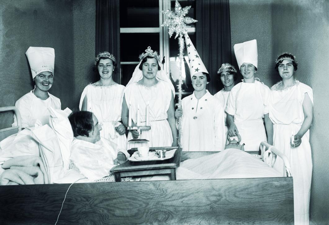 Vårdbilden. Allmänna sjukhuset i Malmö 13 december 1934