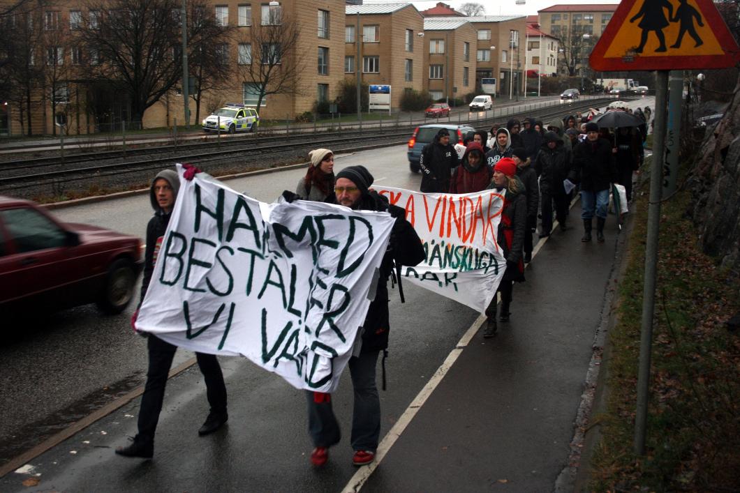 Demonstration mot nedskärningar på Sahlgrenska