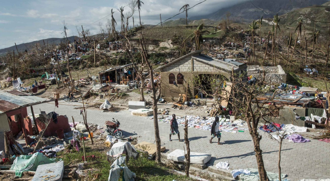 Akut brist på rent vatten i orkandrabbade Haiti