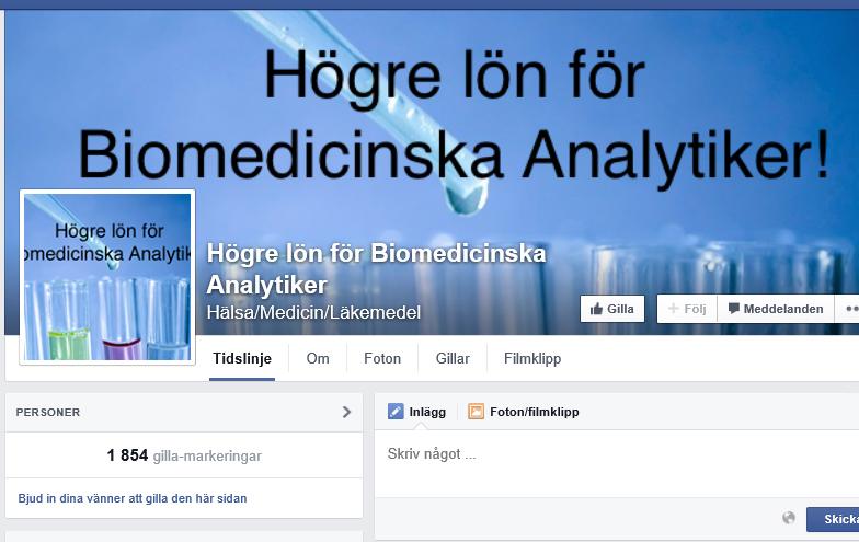 Biomedicinska analytikers lönekrav sprids snabbt på nätet