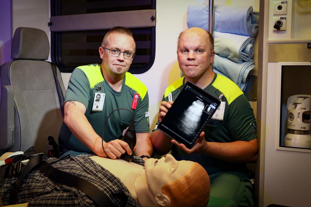 Ultraljud testas i ambulanssjukvård
