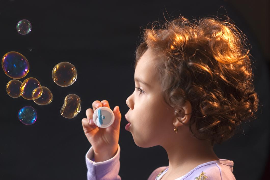 Såpbubblor bra för stickrädda barn