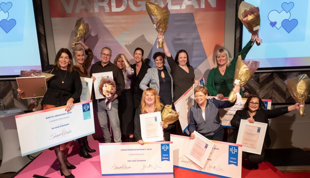 Prischans för tre sjuksköterskor på digitala Vårdgalan