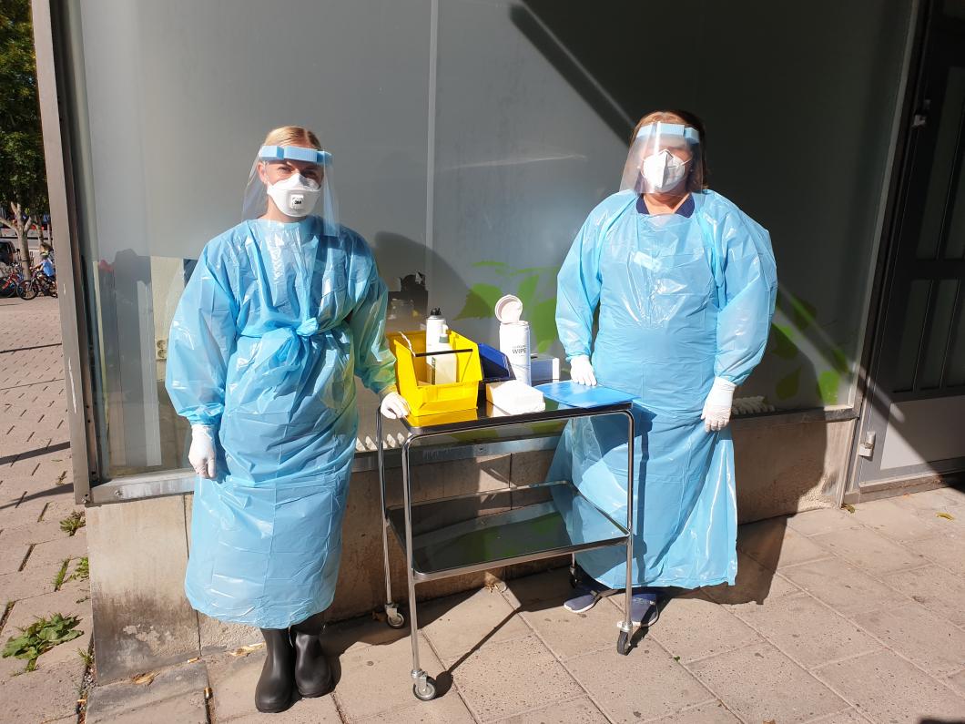 Hårt tryck på vårdcentralen när förkylda barn ska testas