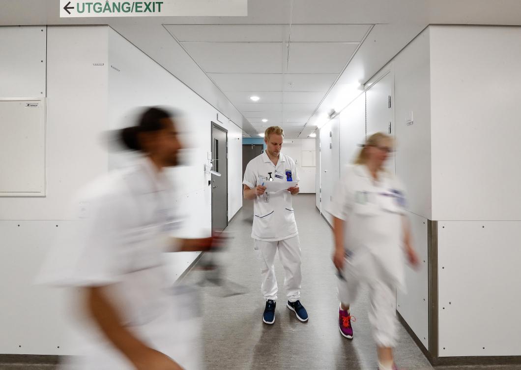 Här snurrar patienterna runt mellan avdelningarna