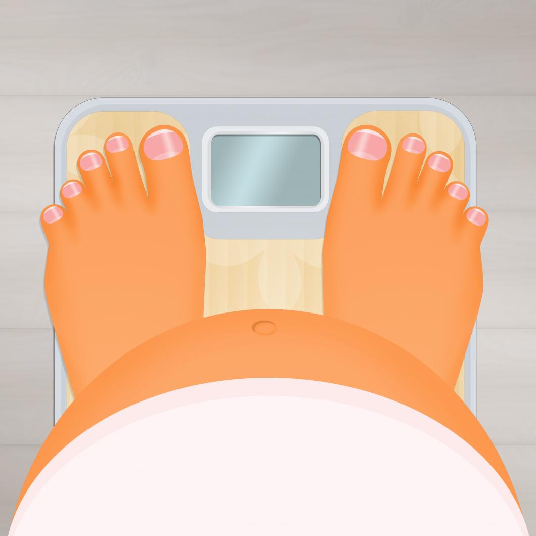 Statistik visar bekymmersam ökning av övervikt bland gravida