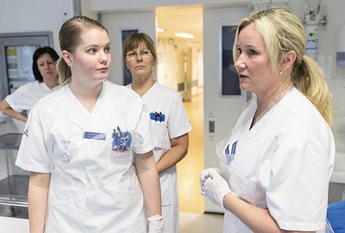Ny mix med färre sjuksköterskor