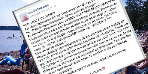 Hennes Facebookinlägg om drunkningsolyckan fick viral spridning