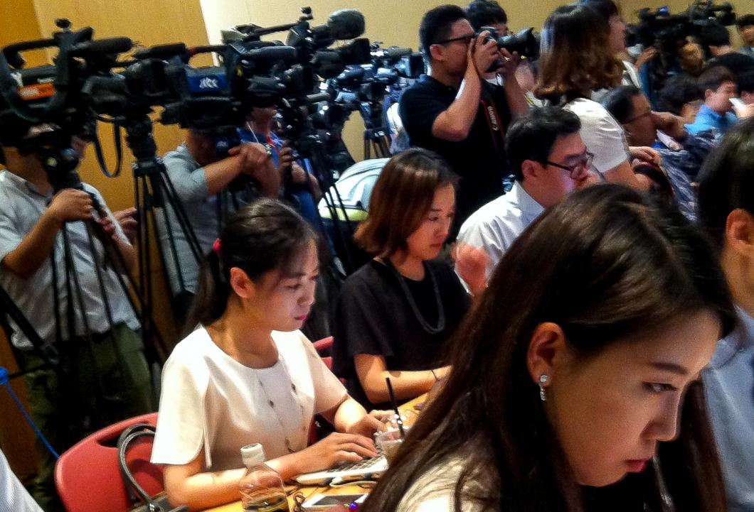 Enormt presspådrag på världskongressen för sjuksköterskor