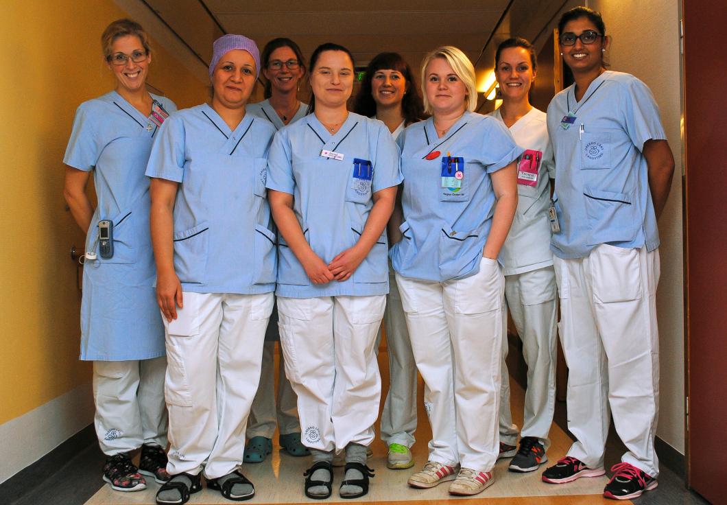 Här gör sjuksköterskorna det de är bäst på