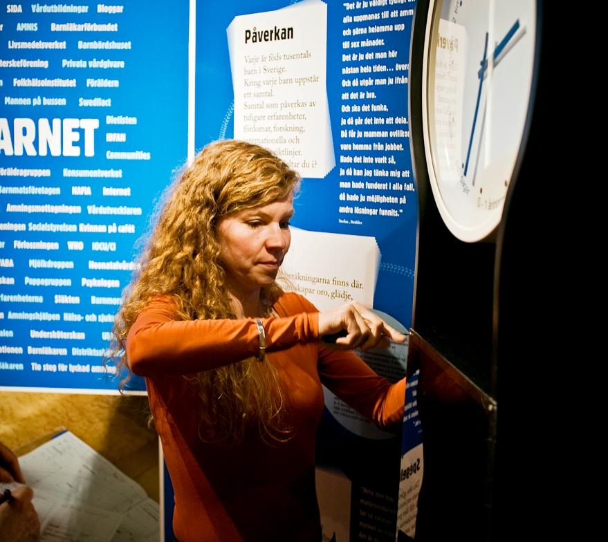 Utställning skapar diskussion om amning