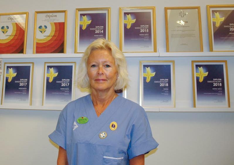 Hon är en mästare på att följa upp patienter med hjärtinfarkt