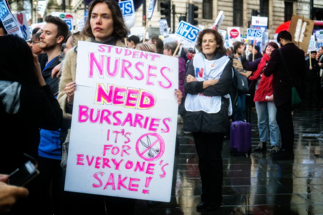 Studentprotester i Storbritannien
