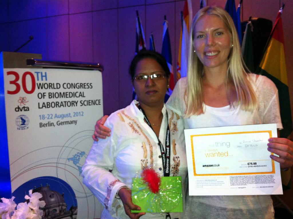 IFBLS-kongressen. Anna-Karin vann första pris för sin poster