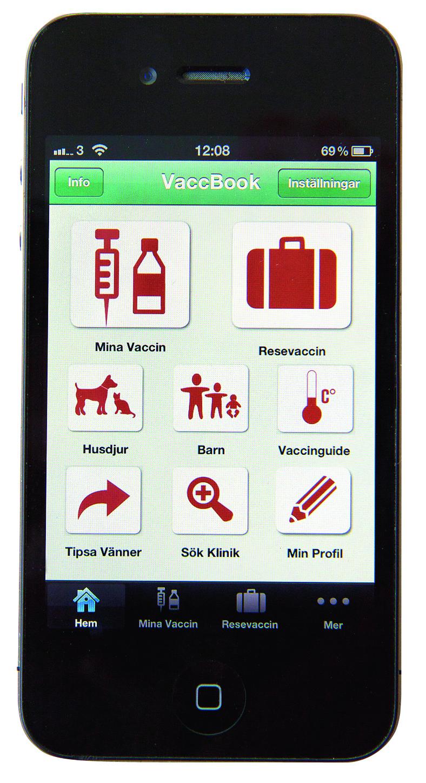 Mobil-app håller reda på vaccinationerna