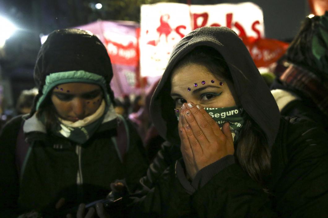 Nej till att legalisera abort i Argentina