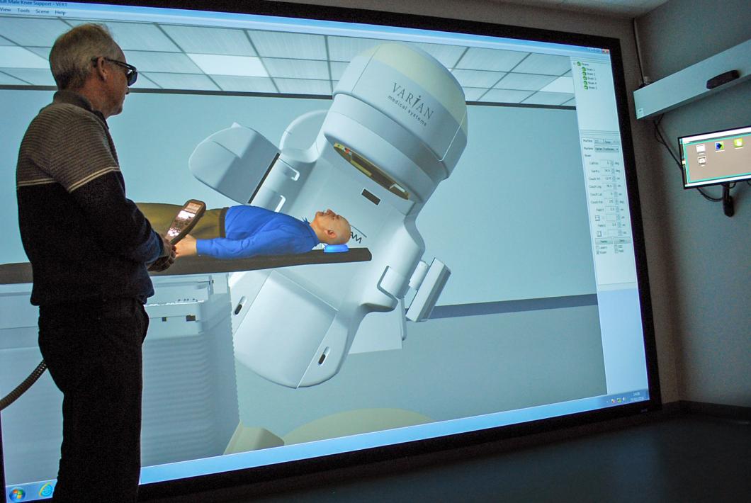 I Lund lärs strålbehandling ut med hjälp av virtual reality