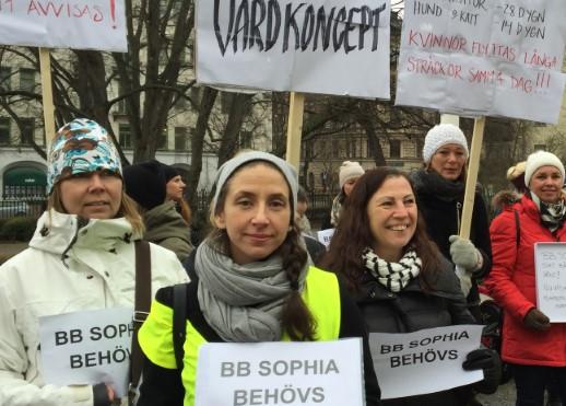 Barnmorskorna vid BB Sophia vägrar ge upp
